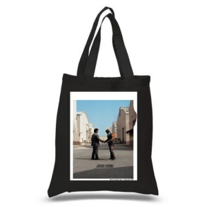 Wish You Were Here Black Tote Bag