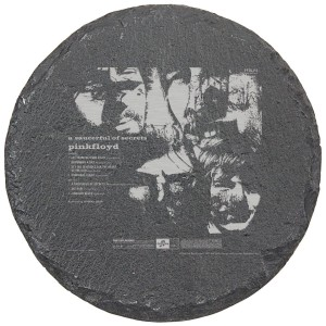 Saucerful Of Secrets Laser Engraved Round Slate Coaster (set of 4)