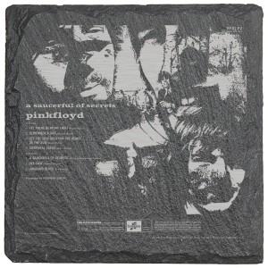 Saucerful Of Secrets Laser Engraved Square Slate Coaster (set of 4)