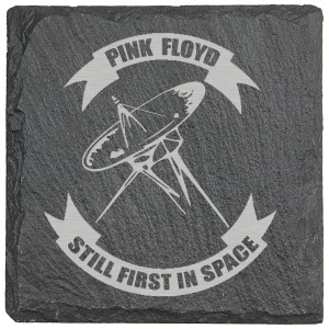 Still First In Space Laser Engraved Square Slate Coaster (set of 4)