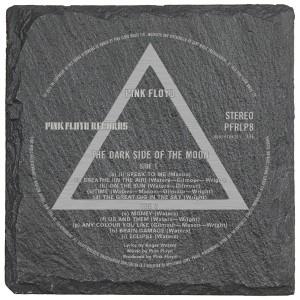 Dark Side Label Laser Engraved Square Slate Coaster (set of 4)