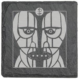 Stoneheads Laser Engraved Square Slate Coaster (set of 4)