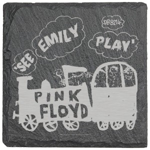 See Emily Play Laser Engraved Square Coaster (set of 4)
