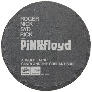Arnold Layne Laser Engraved Round Slate Coaster (set of 4)