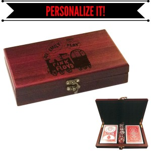 See Emily Play Rosewood Card & Dice Set