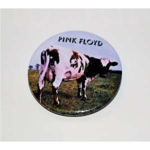 Atom Heart Cow Button