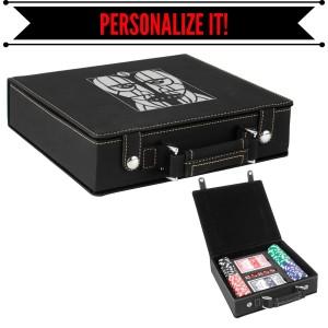 Division Bell Heads Deluxe Laser Engraved Poker Set