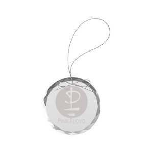 Glyph Logo Round Laser-Etched Glass Ornament