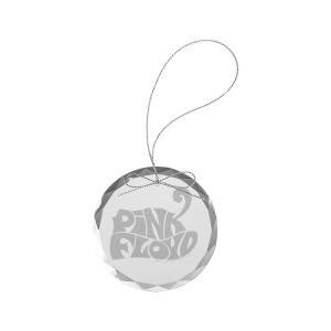 Cheetah Logo Round Laser-Etched Glass Ornament