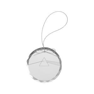 Dark Side Round Laser-Etched Glass Ornament
