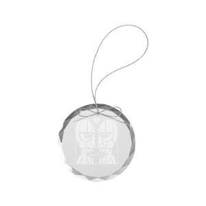Metalheads Round Laser-Etched Glass Ornament