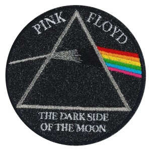 """Pink Floyd T.D.S.O.M. 3.5"""" Round Glitter Patch"""