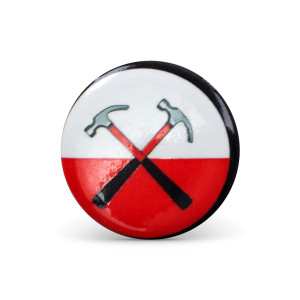 Roger Waters Hammers Logo Button