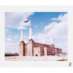 Blimp Over Battersea Fine Art Print