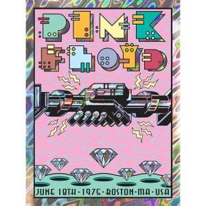 PINK FLOYD JUNE 18, 1975 BOSTON, MA LAVA FOIL VARIANT POSTER