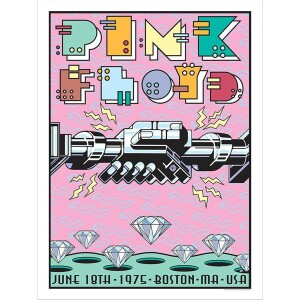 PINK FLOYD JUNE 18, 1975 BOSTON, MA GALLERY EDITION POSTER