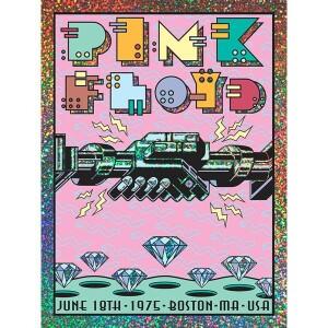 PINK FLOYD JUNE 18, 1975 BOSTON, MA SPARKLE FOIL VARIANT POSTER