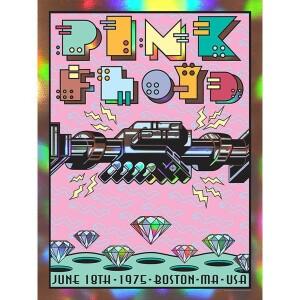 PINK FLOYD JUNE 18, 1975 BOSTON, MA RAINBOW FOIL VARIANT POSTER