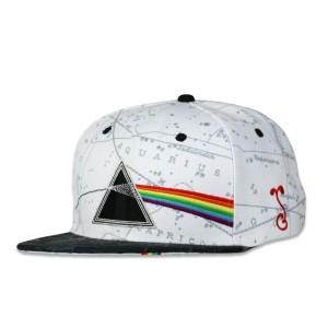 Pink Floyd Dark Side of the Moon White Snapback Hat