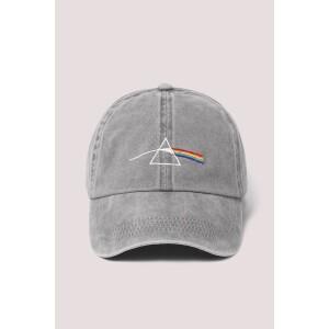Pink Floyd Embroidered Prism Pigment Wash Baseball Cap Grey