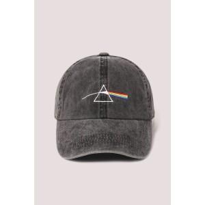 Pink Floyd Embroidered Prism Pigment Wash Baseball Cap Black