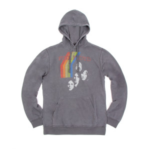 Pink Floyd Charcoal Rainbow Faces Hoodie