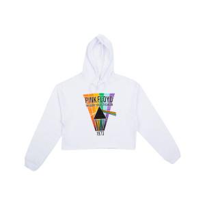 DSOTM Crop Top White Hoodie