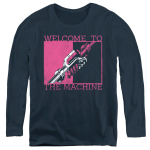 Welcome To The Machine Navy Womens Logo