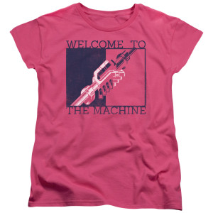 Welcome To The Machine Womens Pink Logo