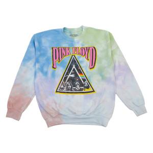 Pink Floyd Tie Dye Prism Ladies Crewneck Sweatshirt
