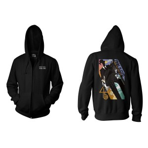 Wish You Were Here 45th Anniversary Title Print Zip Hoodie