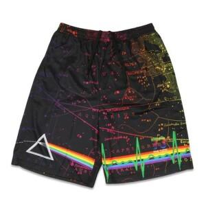 Pink Floyd Dark Side of the Moon Black Mesh Shorts