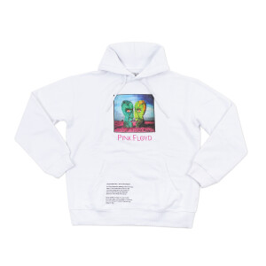 Pink Floyd Division Bell Stone Heads Album Text White Hoodie