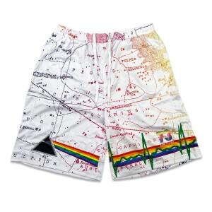 Pink Floyd Dark Side of the Moon White Mesh Shorts