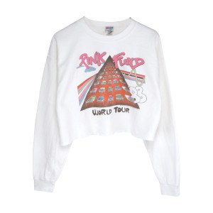 Pink Floyd88 Tour Crop Top  Beds White