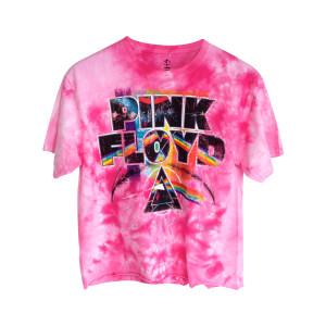 Pink Floyd Juniors Pink Ice Crop Top