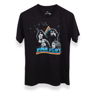 Pink Floyd Faces in Triangle Black Shirt
