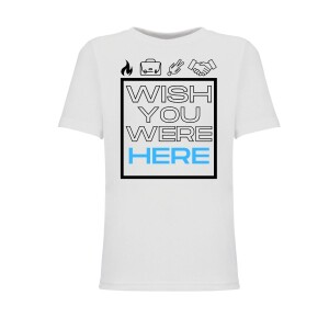 Wish You Were Blue Here Youth Tee