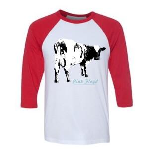 Atom Heart Cow Raglan