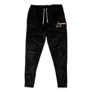 Pink Floyd Dark Side Velour Sweatpants Black