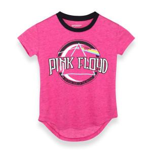 Pink Floyd Dark Side Circular Logo Women's Pink T-Shirt