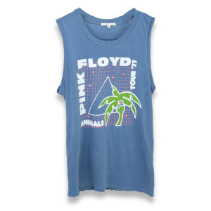 Pink Floyd Animals Palm Tree/Pyramid Blue Tank Top