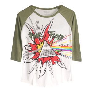 Pink Floyd Dark Side Explosion Green Raglan T-Shirt