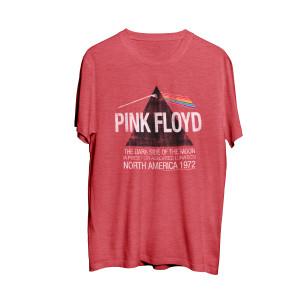Pink Floyd  North American Dark Side Red Men's Tour T-Shirt