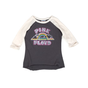 Pink Floyd Rainbow and Clouds '72 Your Grey/White Kids Raglan