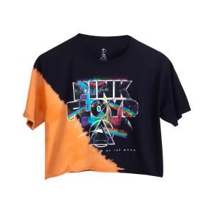 Pink Floyd Dark Side Black Tie Dye Crop Top