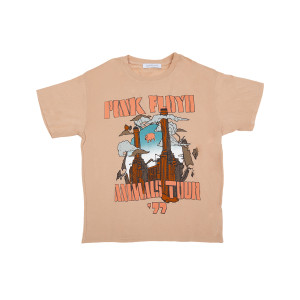 Pink Floyd Animals Tour 77 Womens Pink T-shirt