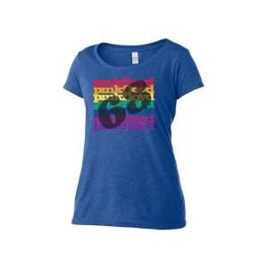 Women's Scoop Neck Rainbow '68 T-Shirt