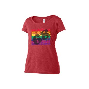 Women's Scoop Neck Rainbow '68 T-Shirt