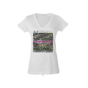 Women's V- Neck py d Album Artwork T-Shirt
